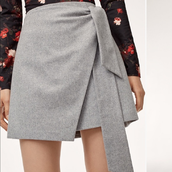 Aritzia Dresses & Skirts - Aritiza Dorine skirt in grey!